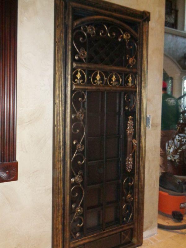 wine cellar doors WCD008 Wrought Iron Design In Las Vegas
