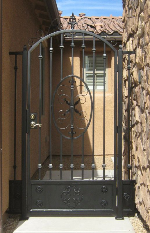 Traditional Single Gate - Item Abbey SG0081C Wrought Iron Design In Las Vegas