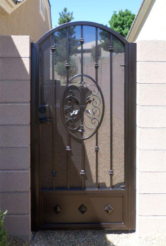 Traditional Single Gate - Item AbbeySG0081D Wrought Iron Design In Las Vegas