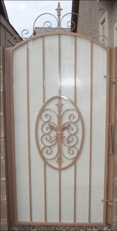 Traditional Single Gate - Item AbbeySG0081F Wrought Iron Design In Las Vegas