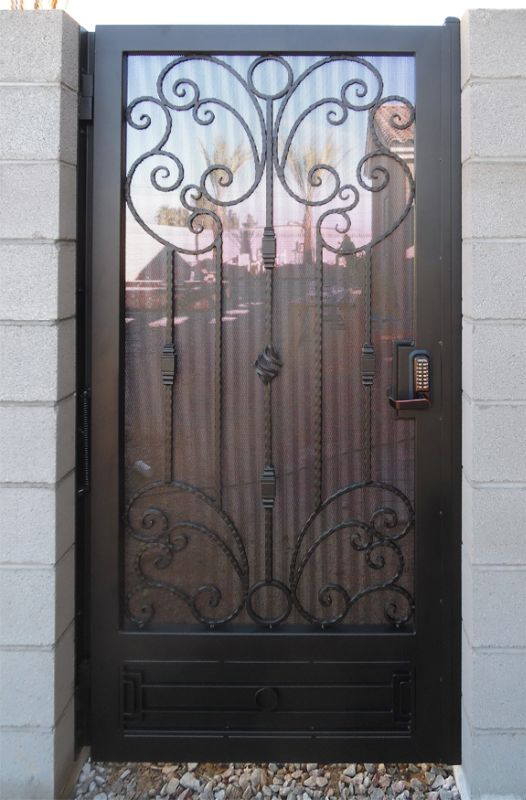 Scrollwork Single Gate - Item AthenaSG0508 Wrought Iron Design In Las Vegas