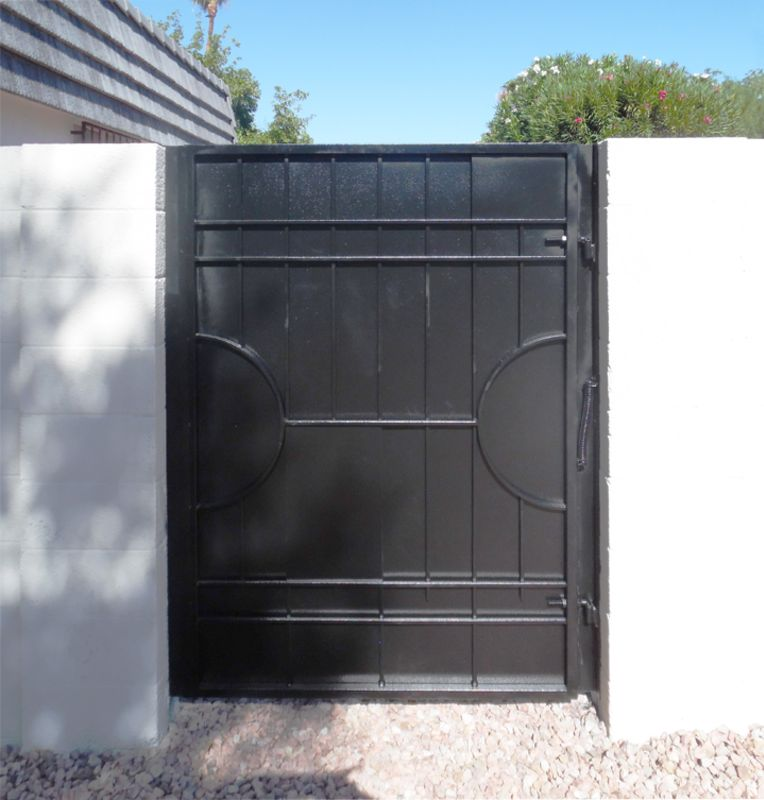 Modern Single Gate - Item Avery SG0460A Wrought Iron Design In Las Vegas
