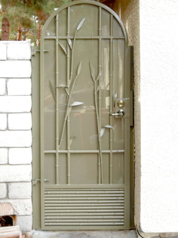Nature Inspired Single Gate - Item BaliSG0101A Wrought Iron Design In Las Vegas