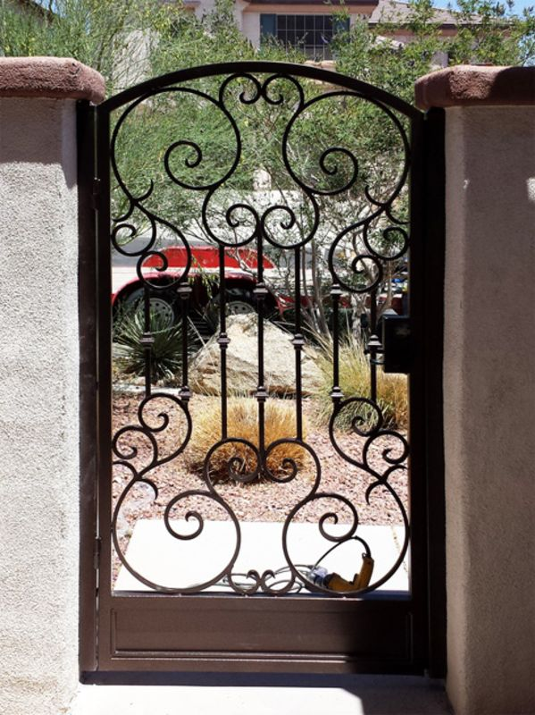 Traditional Single Gate - Item BiscaySG0387 Wrought Iron Design In Las Vegas