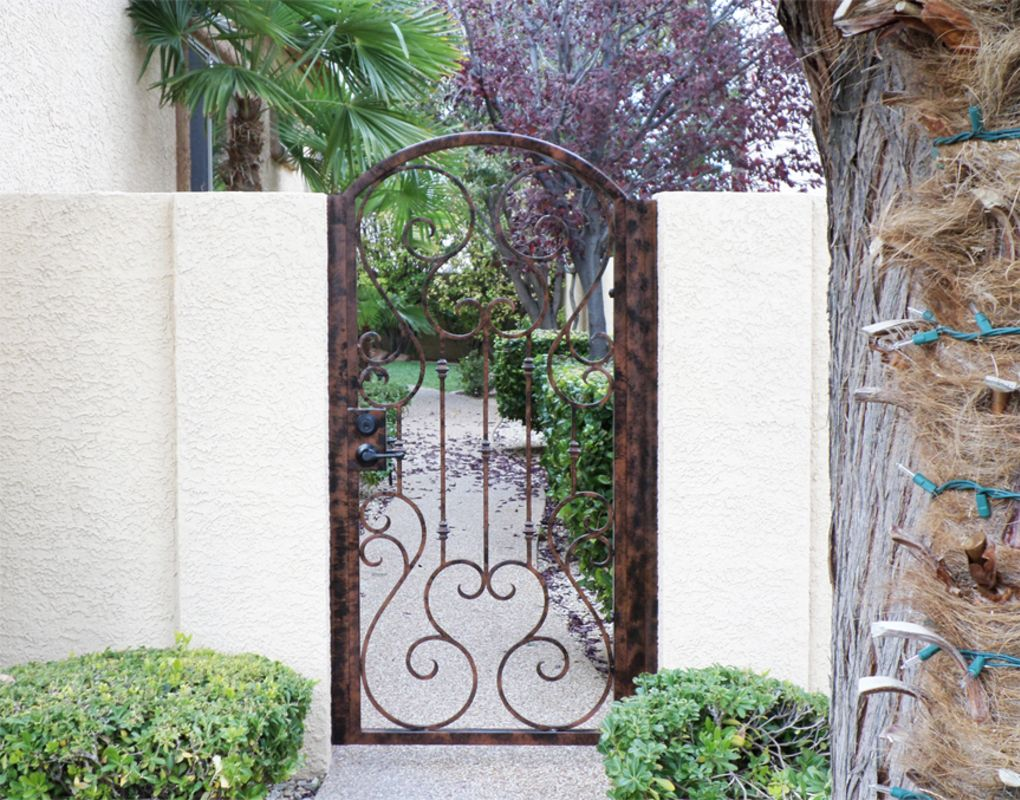 Traditional Single Gate - Item Biscay SG0399 Wrought Iron Design In Las Vegas