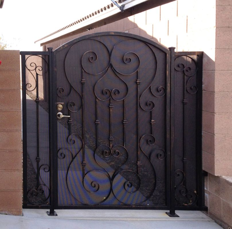 Traditional Single Gate - Item BiscaySG0425A Wrought Iron Design In Las Vegas