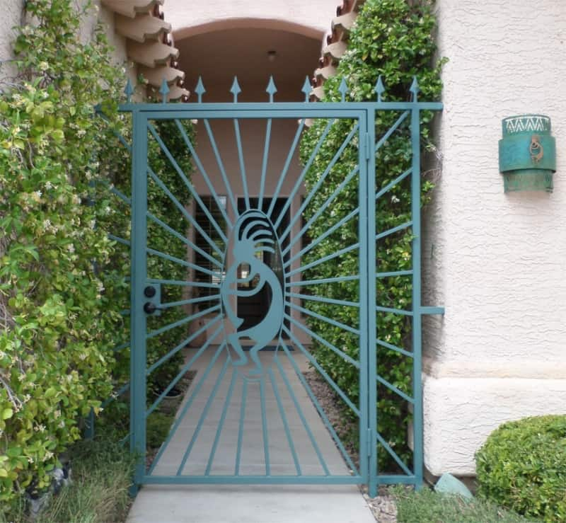 CNC Plasma Cut Courtyard Entry Wrought Iron Design In Las Vegas