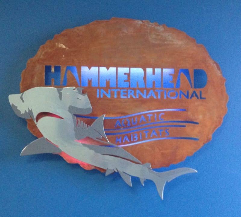 CNC Plasma Cut Custom Sign Wrought Iron Design In Las Vegas