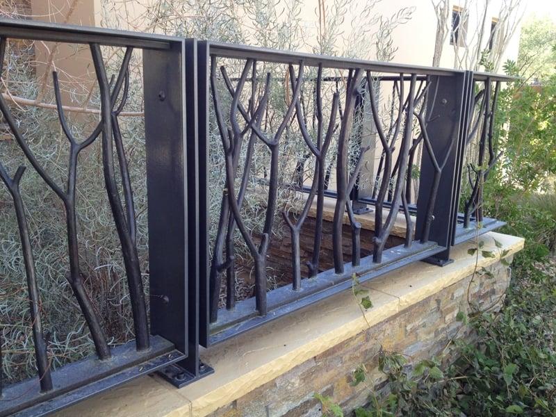 CNC Plasma Cut Fence Wrought Iron Design In Las Vegas