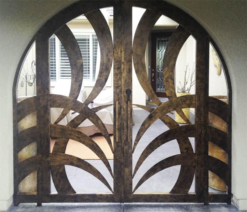 CNC Plasma Cut Kingston Entryway Wrought Iron Design In Las Vegas