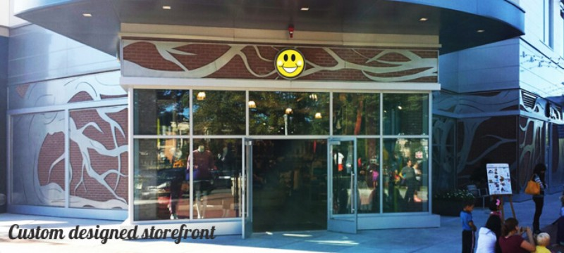 CNC Plasma Cut Store Front Wrought Iron Design In Las Vegas