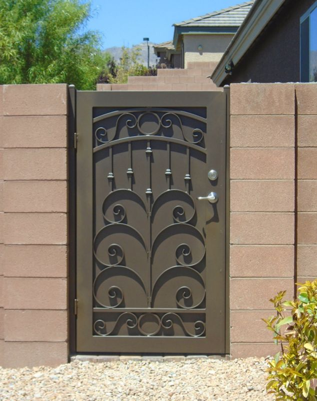 Traditional Single Gate - Item Chattanooga SG0539 Wrought Iron Design In Las Vegas