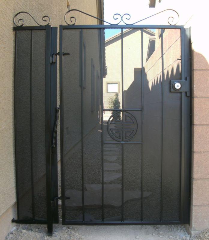 Traditional Single Gate - Item ChiSG0174 Wrought Iron Design In Las Vegas
