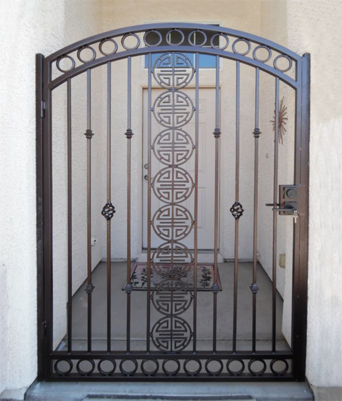 Traditional Single Gate - Item ChiSG0421 Wrought Iron Design In Las Vegas