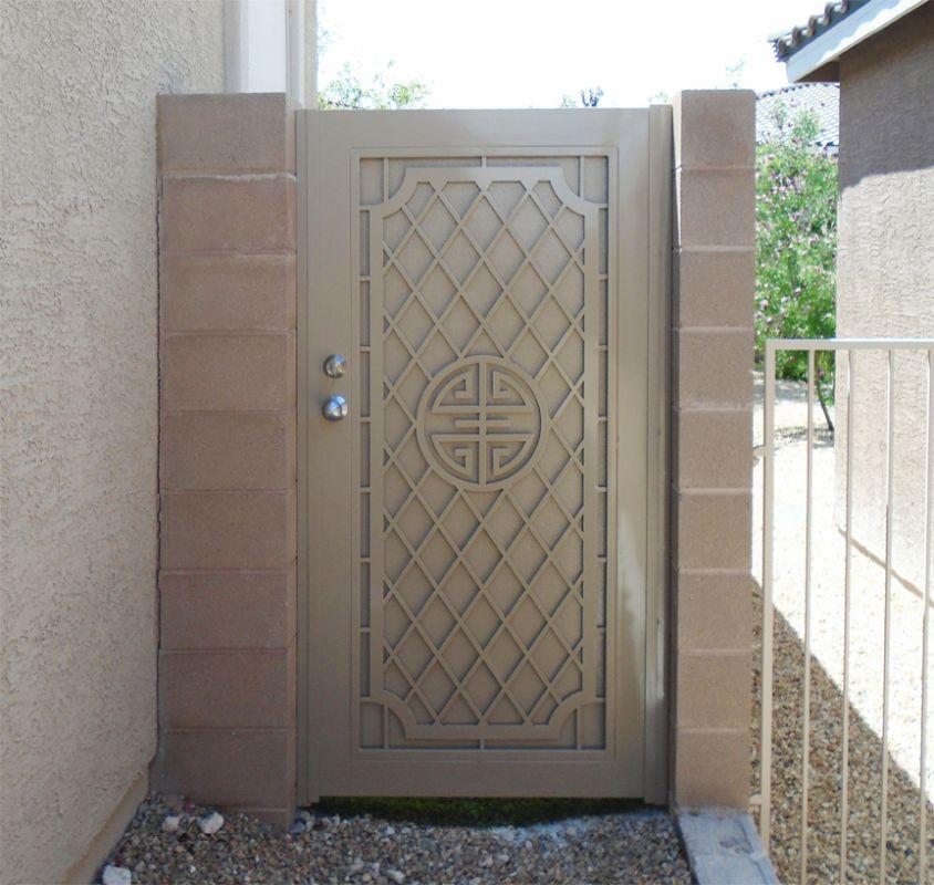 Traditional Single Gate - Item ChiSG0535 Wrought Iron Design In Las Vegas