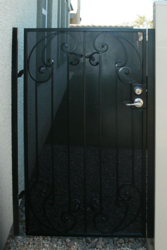 Traditional Single Gate - Item Corsica SG0168 Wrought Iron Design In Las Vegas