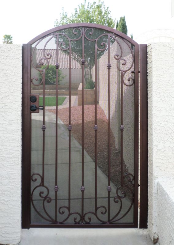 Traditional Single Gate - Item CorsicaSG0433 Wrought Iron Design In Las Vegas