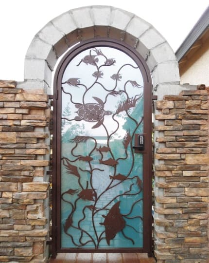 Courtyard Entry Doors LV Wrought Iron Design In Las Vegas