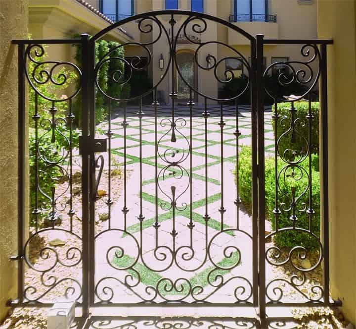 Courtyard Garden Gate LV Wrought Iron Design In Las Vegas