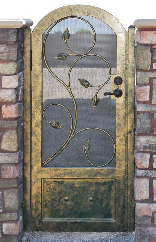 Scrollwork Single Gate - Item CrescenteSG0382 Wrought Iron Design In Las Vegas