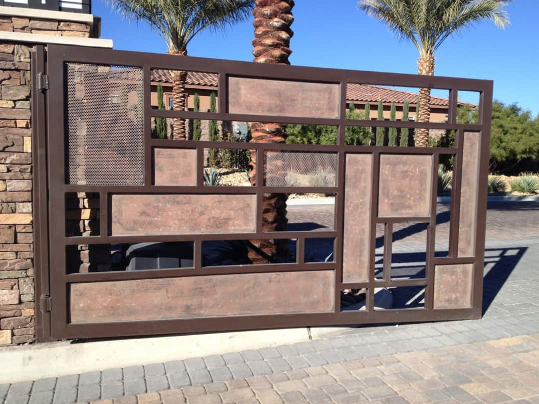 Custom Driveway Gate LV Wrought Iron Design In Las Vegas