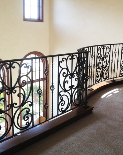 Custom Indoor Railings LV Wrought Iron Design In Las Vegas
