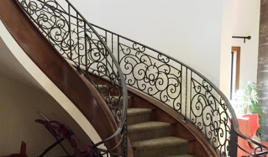 Custom Iron Stair Rails LV Wrought Iron Design In Las Vegas