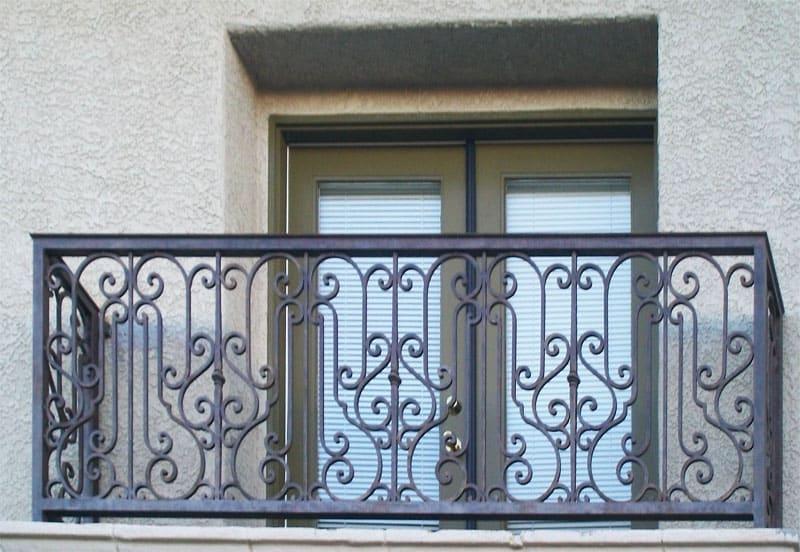 Custom Ironwork Balcony Railing Wrought Iron Design In Las Vegas