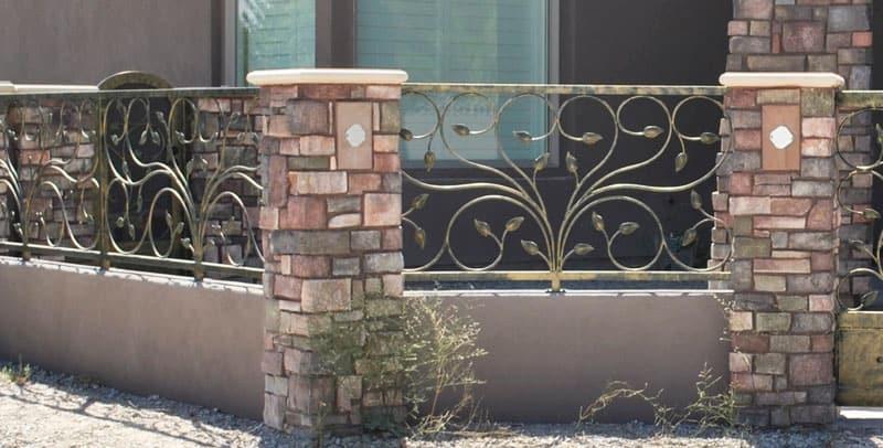 Custom Ironwork Brick Iron Wrought Iron Design In Las Vegas