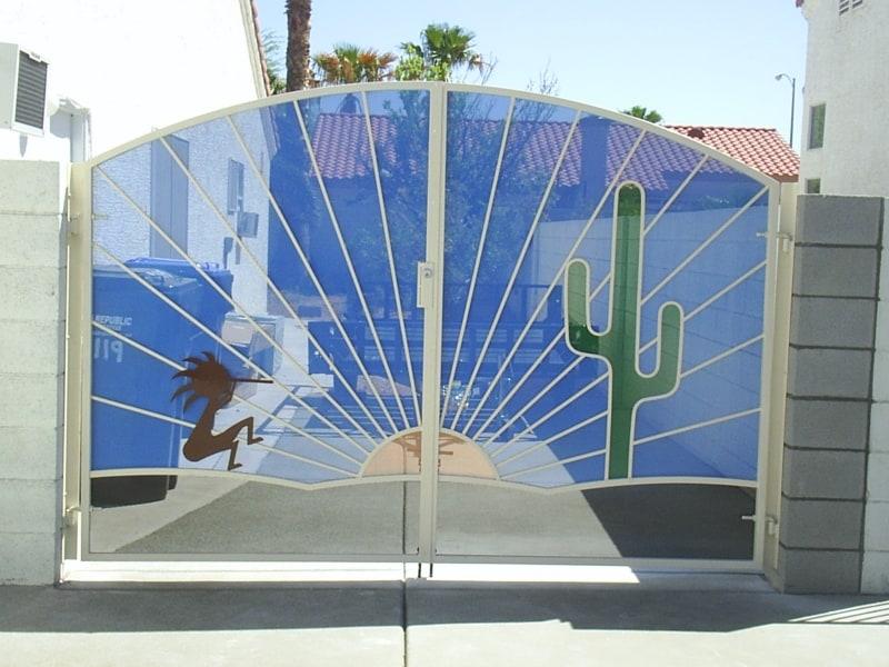 Custom Ironwork Colorful Gates Wrought Iron Design In Las Vegas