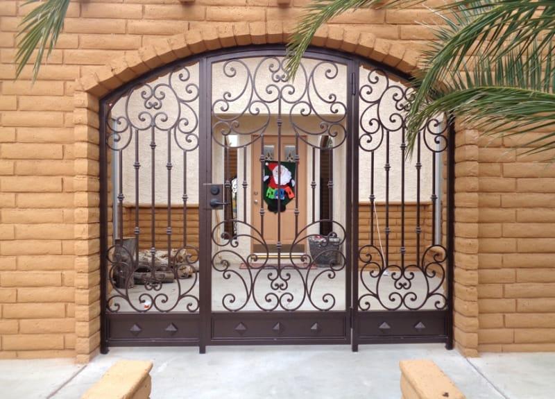 Custom Ironwork Home Entry Wrought Iron Design In Las Vegas