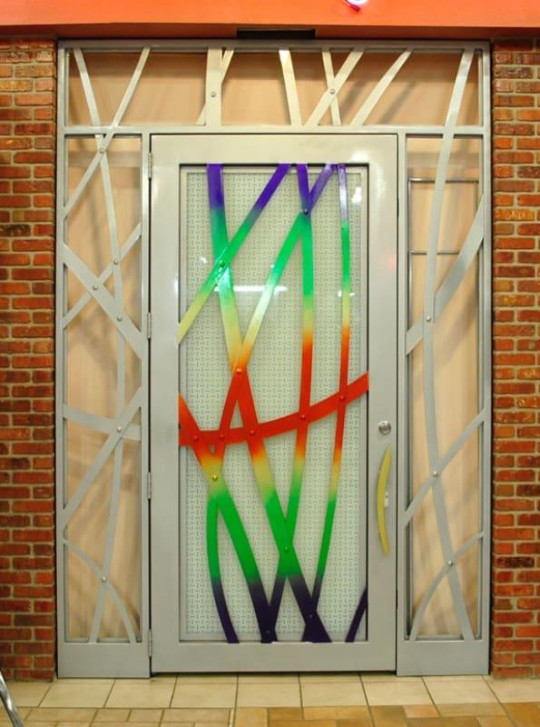 Custom Ironwork Metal Glass Doors Wrought Iron Design In Las Vegas