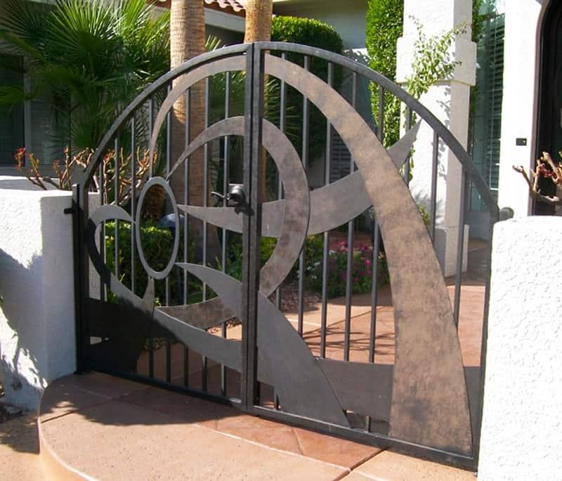 Custom Ironwork Plasma Cut Gates Wrought Iron Design In Las Vegas