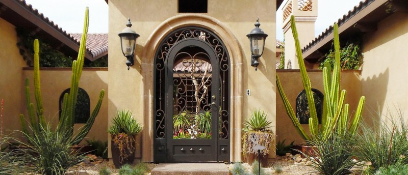 Custom Ironwork Scrollwork Entry Wrought Iron Design In Las Vegas