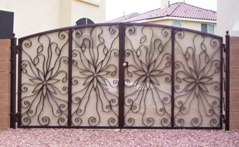 Custom Ironwork Solar Gates Wrought Iron Design In Las Vegas