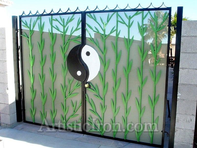 Custom Ironwork Yin Yang Gate Wrought Iron Design In Las Vegas