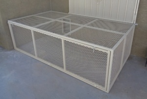 Custom Outdoor Pet Cage Wrought Iron Design In Las Vegas