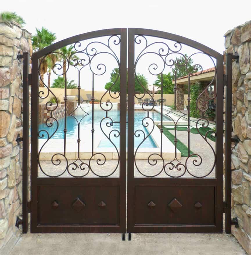 Custom Pool Gate LV Wrought Iron Design In Las Vegas