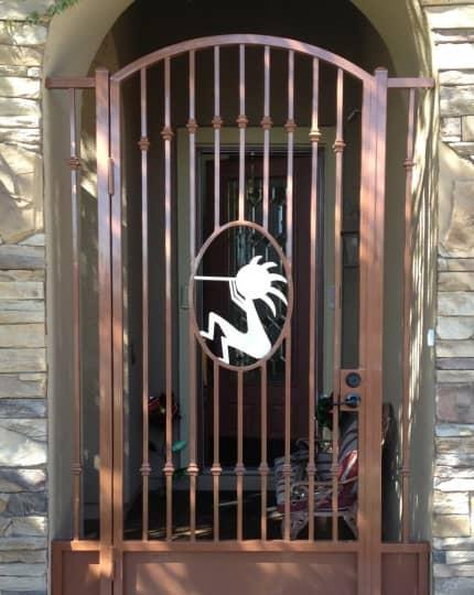 Custom Wrought Iron Entry LV