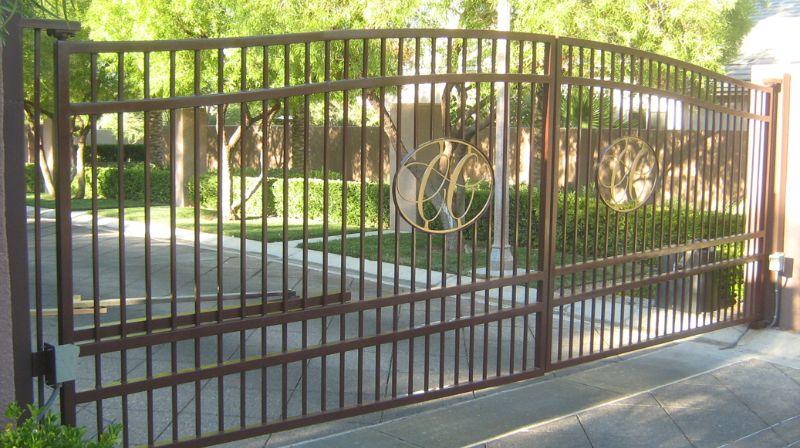 Econo-Line Double Gate - Item DG0081 Wrought Iron Design In Las Vegas