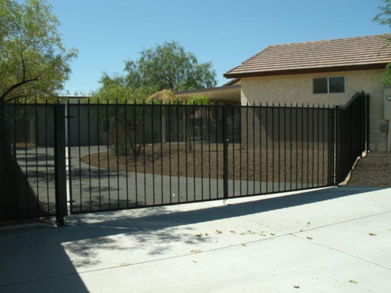 Econo-Line Double Gate - Item DG0087 Wrought Iron Design In Las Vegas