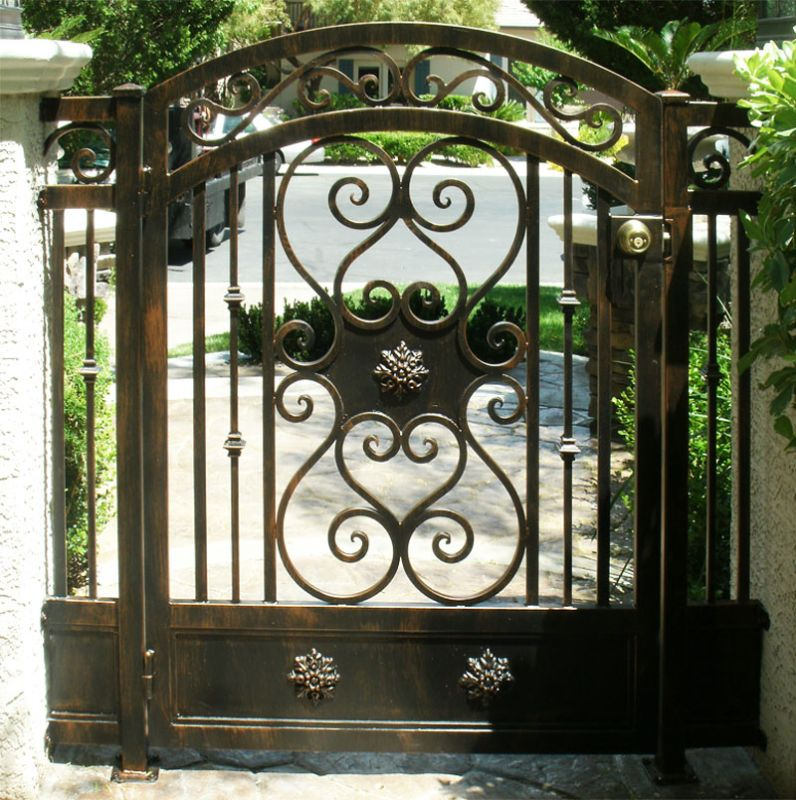 Traditional Single Gate - Item Dallas SG0184 Wrought Iron Design In Las Vegas