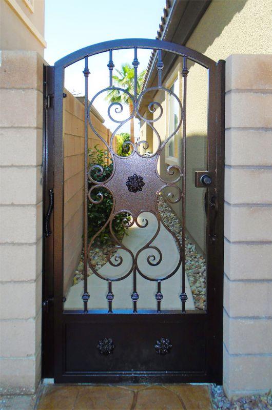 Traditional Single Gate - Item DallasSG0184A Wrought Iron Design In Las Vegas