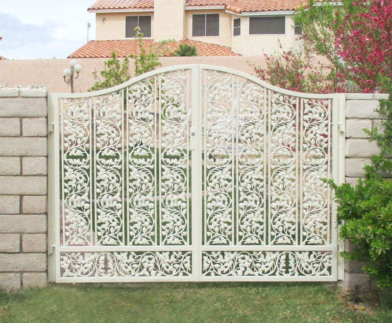 Traditional Double Gate - Item DebussyDG0365 Wrought Iron Design In Las Vegas