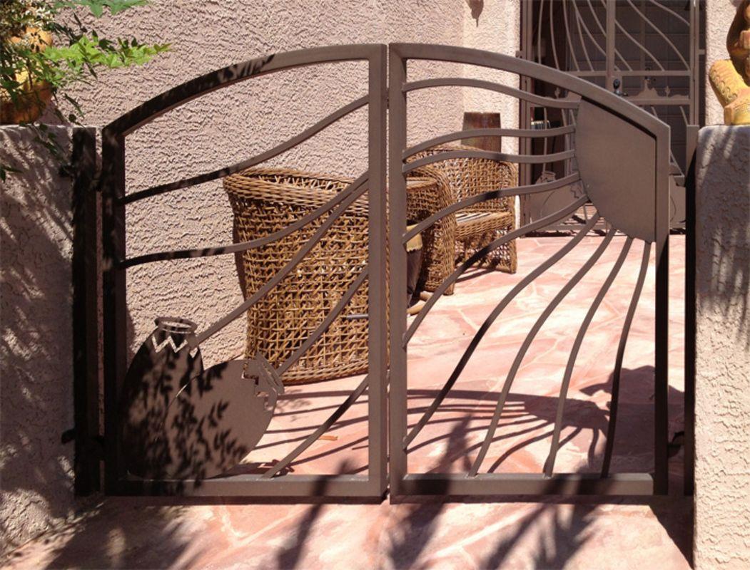 Plasma-Cut Single Gate - Item Desert VistaSG0461 Wrought Iron Design In Las Vegas