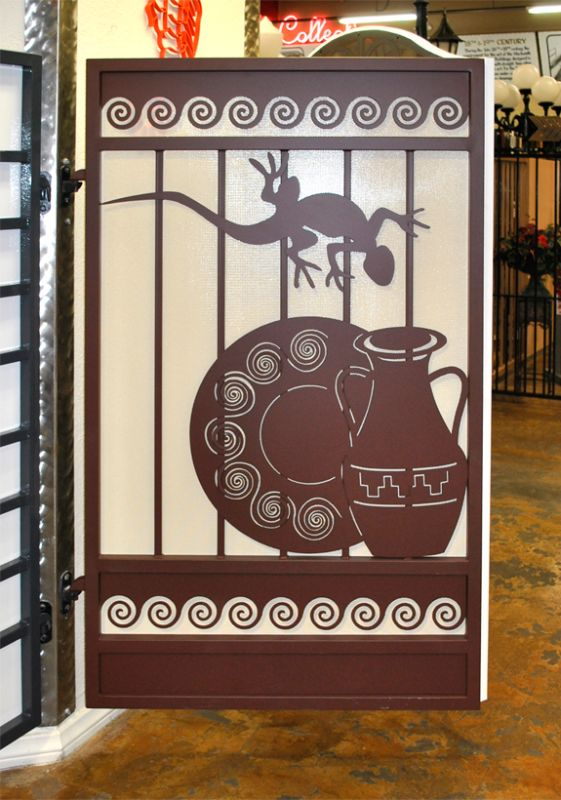 Plasma-Cut Single Gate - Item Desert Vista SG0506 Wrought Iron Design In Las Vegas