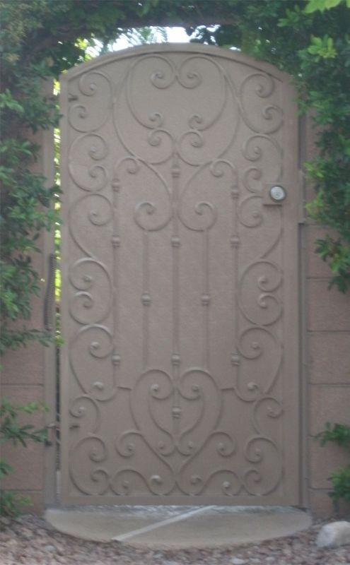 Traditional Single Gate - Item DuchessSG0183 Wrought Iron Design In Las Vegas