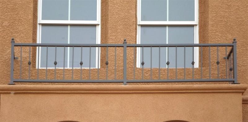 Econo-Line Balcony Railing - Item BR0079 Wrought Iron Design In Las Vegas
