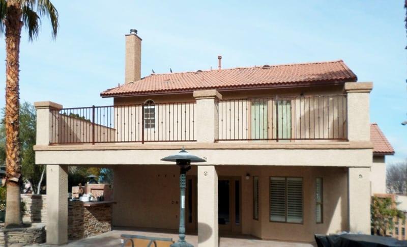 Econo-Line Balcony Railing - Item BR0098A Wrought Iron Design In Las Vegas