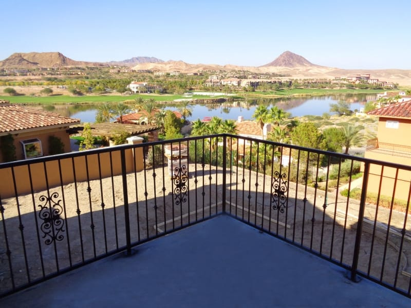 Econo-Line Balcony Railing - Item BR0108 Wrought Iron Design In Las Vegas